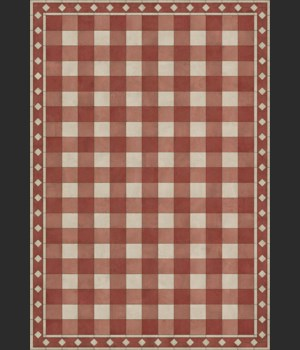 Williamsburg - Gingham Tile - Red 70x102