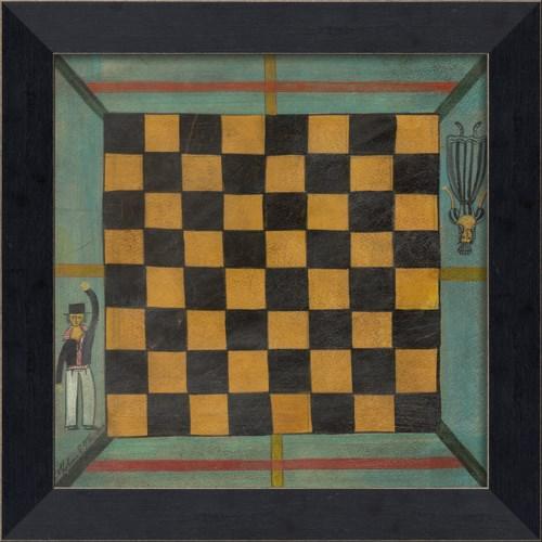 MI Checkers Game Board