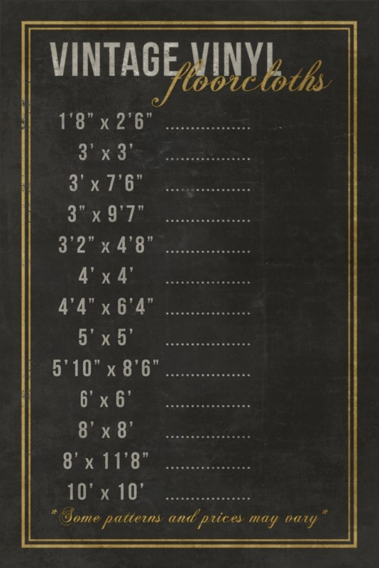 Vintage Vinyl Pricing Chalkboard