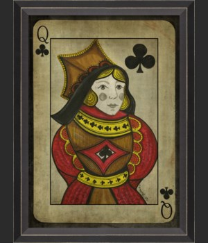 BC Queen of Clubs with border