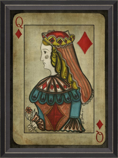 BC Queen of Diamonds with border