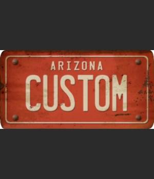 Arizona License Plate Custom