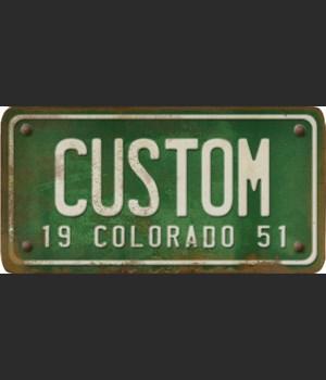 Colorado License Plate Custom