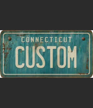 Connecticut License Plate Custom