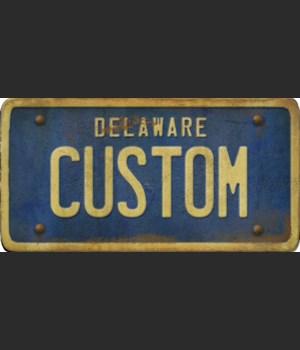 Delaware License Plate Custom