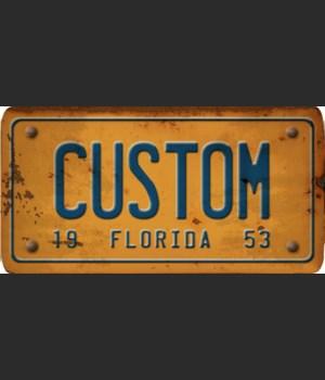 Florida License Plate Custom