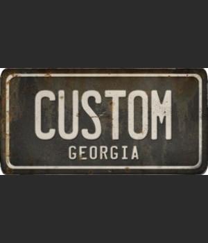 Georgia License Plate Custom