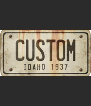 Idaho License Plate Custom