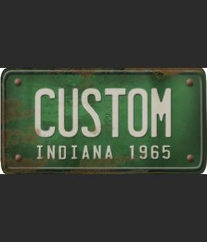 Indiana License Plate Custom