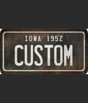 Iowa License Plate Custom