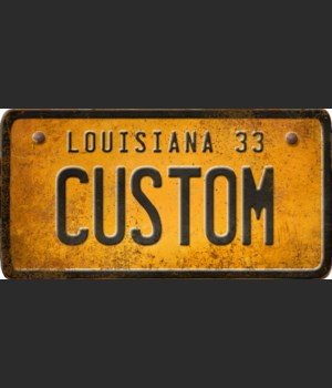 Louisiana License Plate Custom