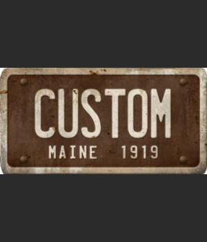 Maine License Plate Custom