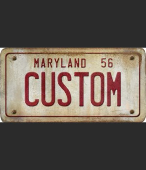 Maryland License Plate Custom