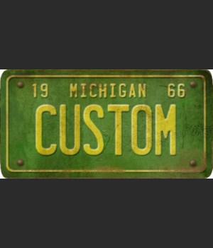 Michigan License Plate Custom