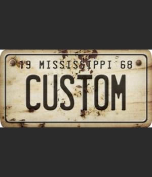 Mississippi License Plate Custom