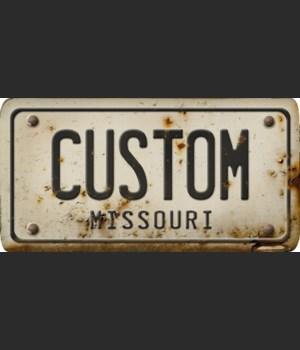 Missouri License Plate Custom