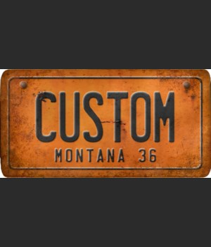 Montana License Plate Custom