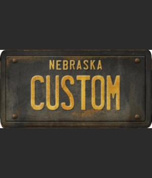 Nebraska License Plate Custom