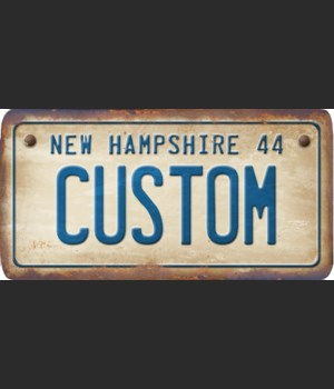 New Hampshire License Plate Custom