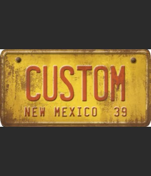 New Mexico License Plate Custom