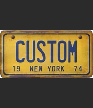 New York License Plate Custom