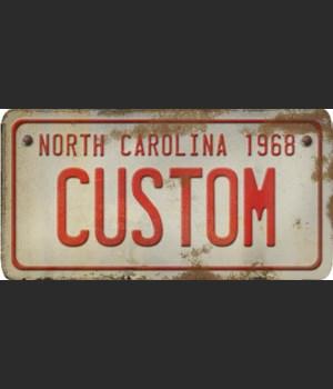 North Carolina License Plate Custom