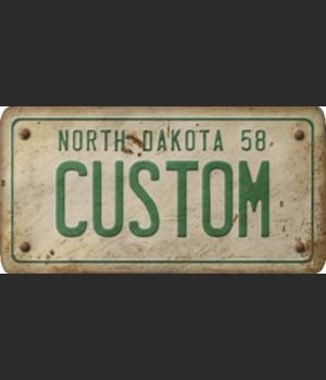 North Dakota License Plate Custom