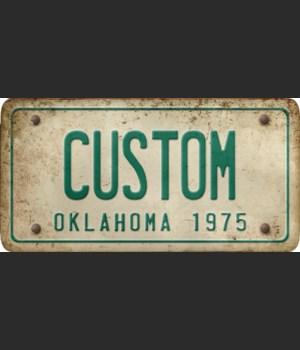 Oklahoma License Plate Custom