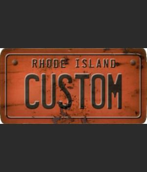 Rhode Island License Plate Custom
