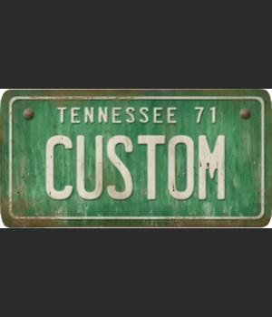 Tennessee License Plate Custom