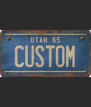Utah License Plate Custom