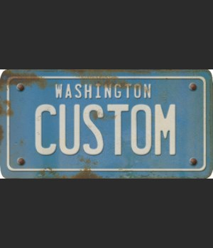 Washington License Plate Custom