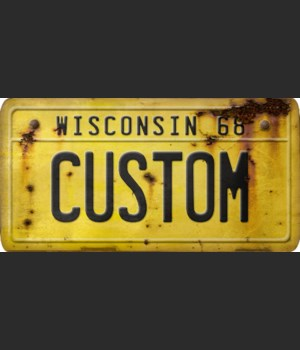 Wisconsin License Plate Custom