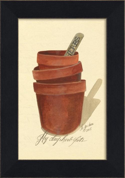 MI Clay Herb Pots