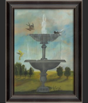 LS Fountain with Yellow Bird