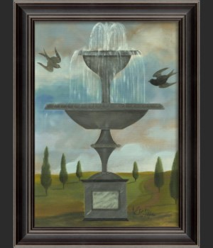 LS Fountain with Two Birds