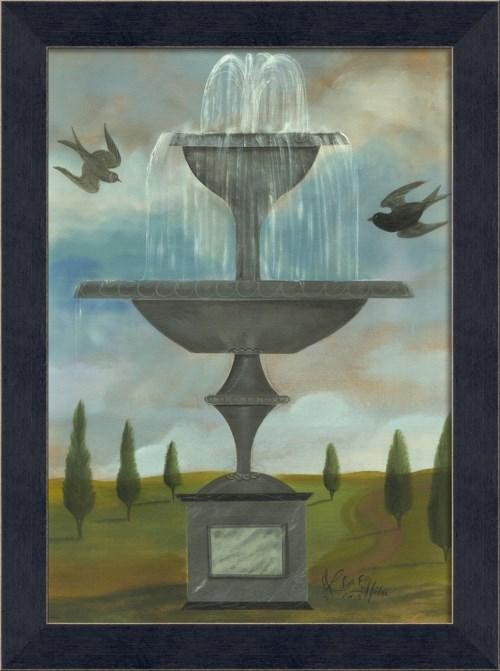 MI Fountain with Two Birds