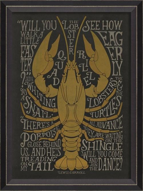BC the Lobster Quadrille sm on black