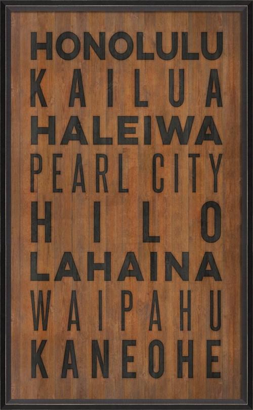 BC Hawaii Beach Cities on wood