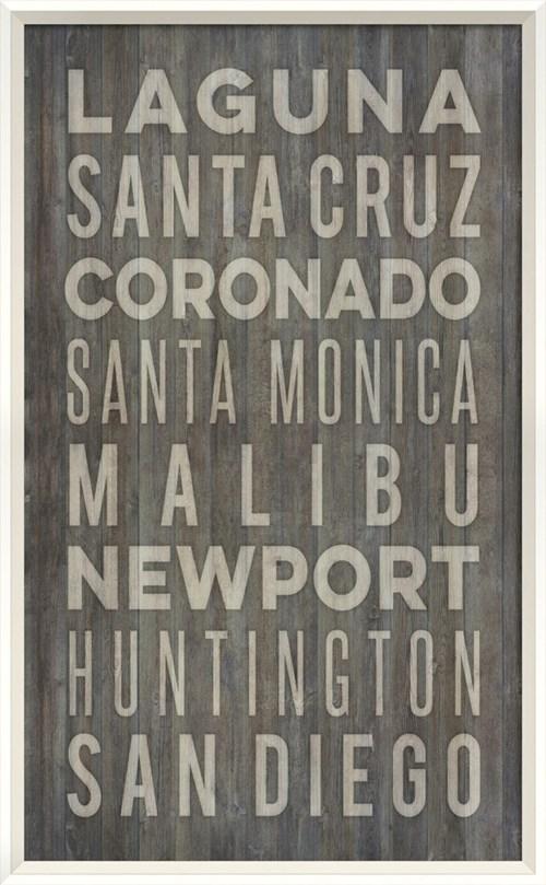 WC California Beach Cities on gray