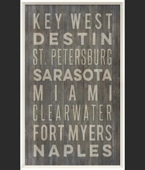 WC Florida Beach Cities on gray
