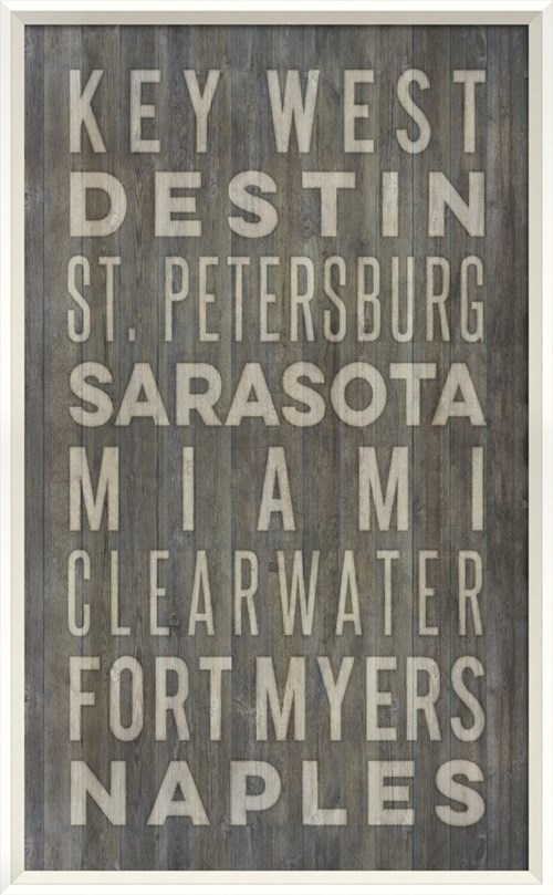 WC Florida Beach Cities on gray