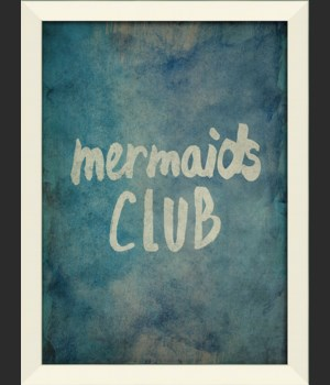LN Mermaids Club on blue sm