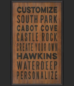 BC Customized Coastal Cities on wood print