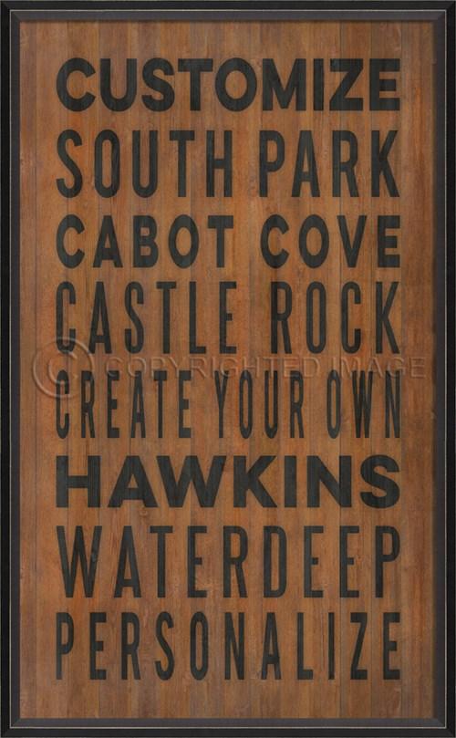 BC Customized Coastal Cities on wood print