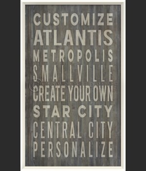 WC Customized Coastal Cities on grey print