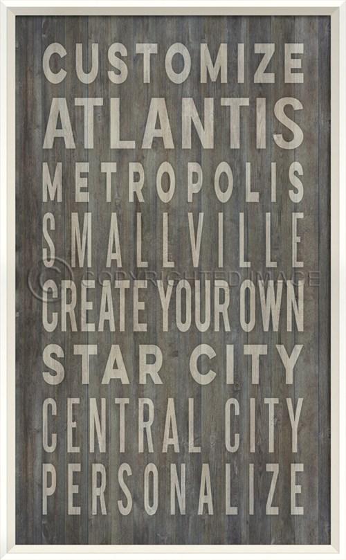 WC Customized Coastal Cities on grey print