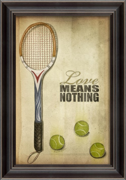 LS Tennis Love Means Nothing Poster