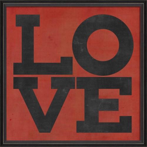 BC LOVE black on red
