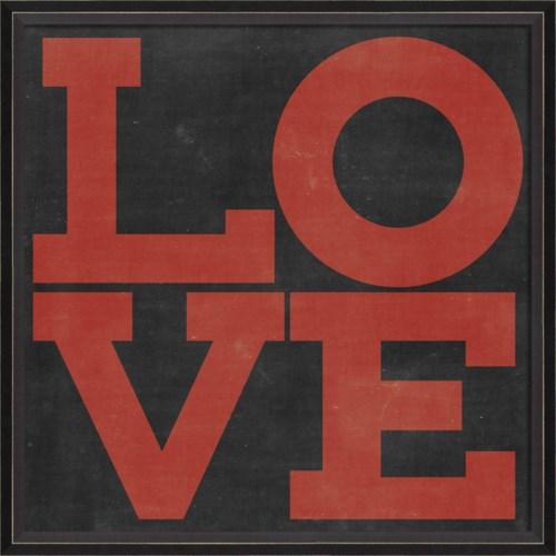 BC LOVE red on black